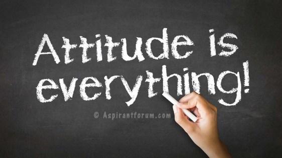 Attitude Is Everything Chalk Illustration